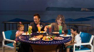 關島太平洋島渡假村 日落黃昏燒烤