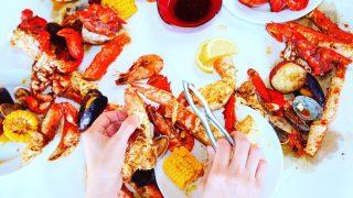 關島美食CRACKIN CRAB-大口吃蝦與螃蟹