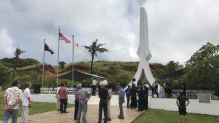 初次參加太平洋戰爭的慰靈碑掃墓