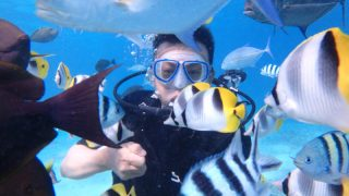 魚眼公園體驗潛水$85(中文教練)